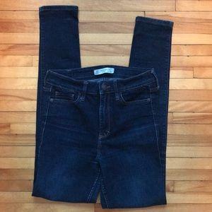Abercrombie High Rise Dark Rinse Skinny Jean